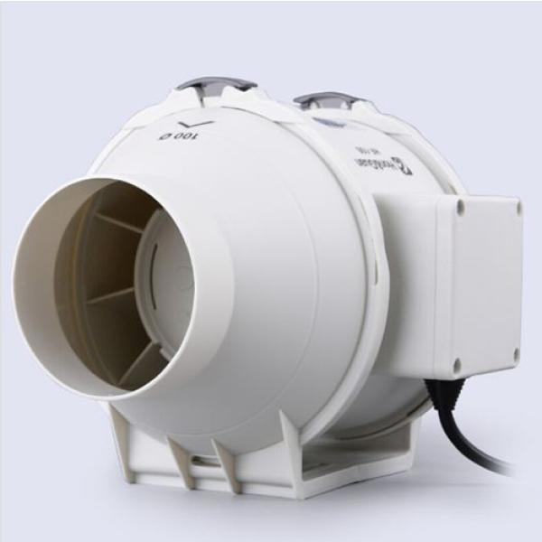 Quạt thông gió nối ống đường ống đồng trục HF-100P-Phi 100mm