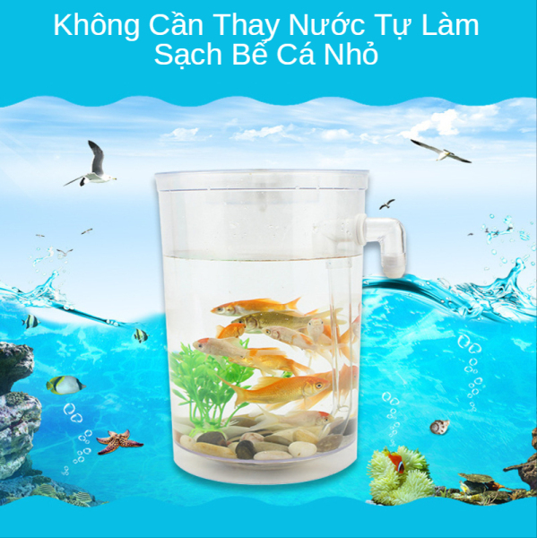 Bể cá để bàn không cần thay nước,Bể cá chọi Bể cá mini để bàn