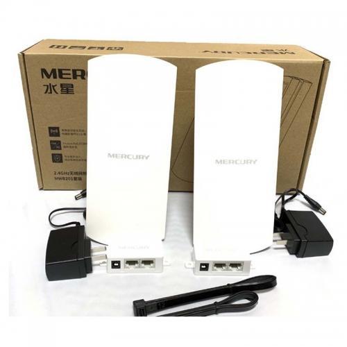 Giá Bộ thu phát wifi cho camera IP dùng trong thang máy, ngoài trời MERCURY MWB201- 300MBPS 2.4GHZ 1Km