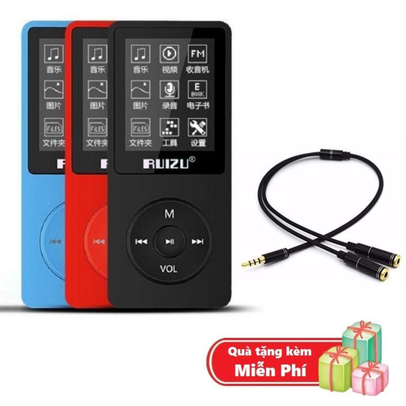 ( Quà tặng Dây chia cổng tai nghe 1 ra 2 ) Máy nghe nhạc mp3 Ruizu X02 bộ nhớ trong 8G hỗ trợ thẻ nhớ lên đến 64G cao cấp