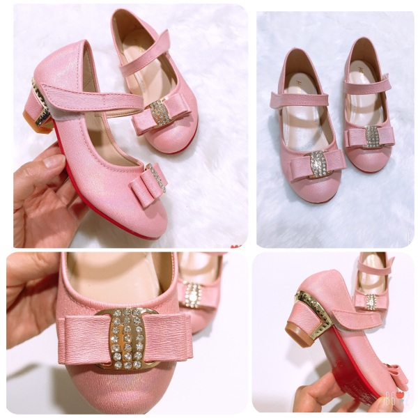 Giá bán Giày sandal cho bé gái 3cm 91202 màu hồng sz25-34