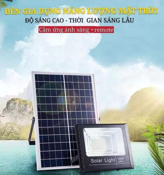 Đèn led pha năng lượng mặt trời  30W60W100W200W Tiết kiệm năng lượng mà không tiêu thụ điện