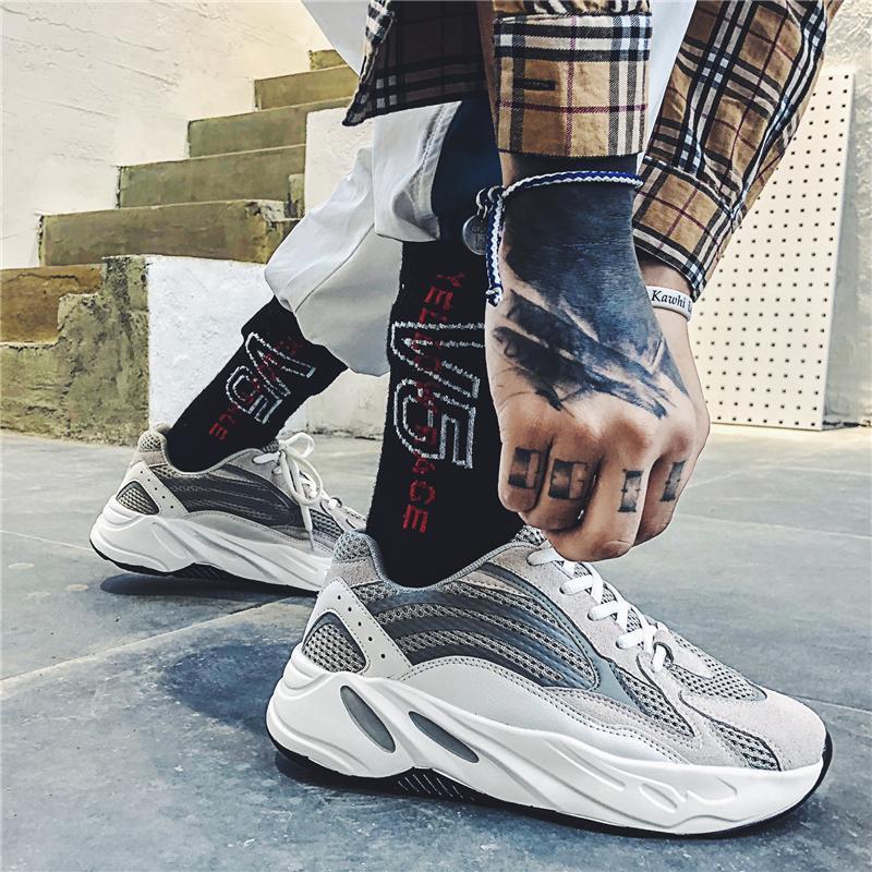 Giày Cũ Giầy Nam Mùa Đông Thủy Triều 2018 Mẫu Mới Dừa 700 Kiểu Hàn Quốc Ulzzang Phong Cách Harajuku Nhiều Kiểu Phối Đồ BF Giầy Thể Thao