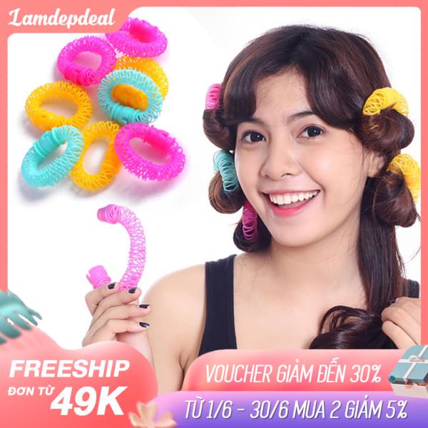 Lamdepdeal - Lô uốn tóc lò xo không dùng nhiệt - Lô cuốn tóc giá rẻ, dễ sử dụng - Dụng cụ làm tóc.
