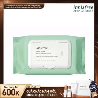 Khăn ướt tẩy trang đa năng hương lúa mạch Innisfree Green Barley Cleansing Tissue (50 Tờ) thumbnail