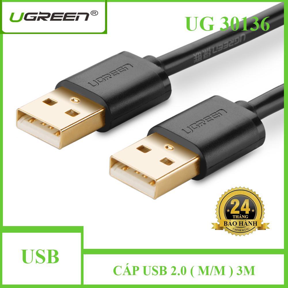 Dây cáp USB 2.0 cáp ổ cứng mạ vàng 2 đầu đực (male-male) UGREEN US102 30136 - 3M