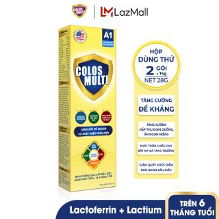 [HỘP DÙNG THỬ] Sữa bột tăng sức đề kháng Mama Sữa Non Colos Multi A1 hộp 2 gói x 14g thumbnail