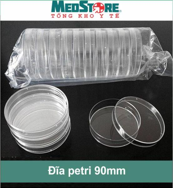 Bộ 10 đĩa Petri kích thước 90mm 1 ngăn trong suốt medisafe - TBYT Medstore