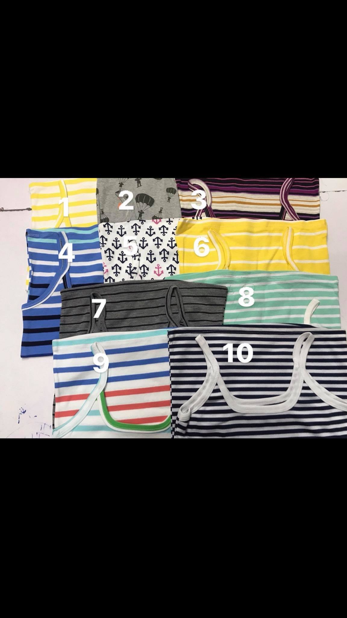 áo thun hai dây sọc,chất thun cotton mát rất thích hợp cho mùa hè