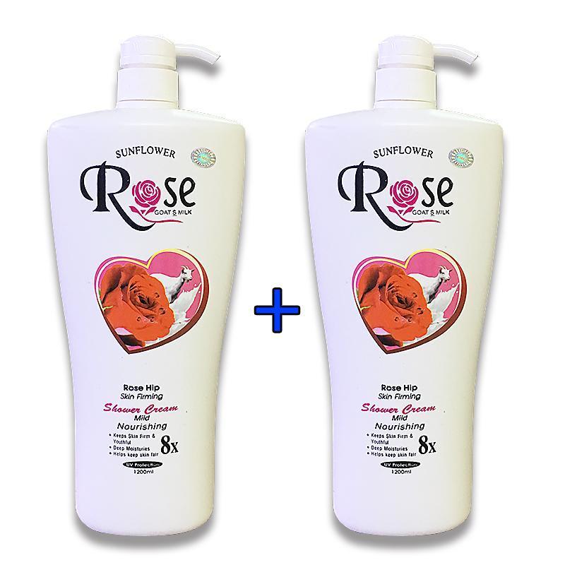 [ Combo 2 chai ] Sữa Tắm Dê Rose 8x Cao Cấp xuất Bungari Chai Khổng Lồ 1200ml x 2 chai, HSD đến tháng 09-2022