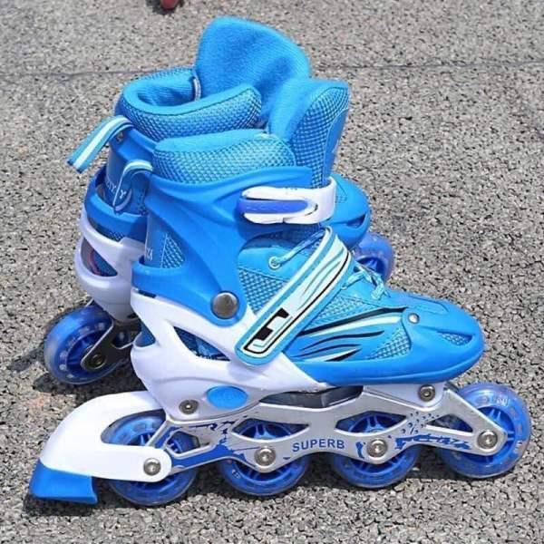 Mua Giầy trượt patin trẻ em có đèn flash tặng bảo vệ tay chân nhiều mầu