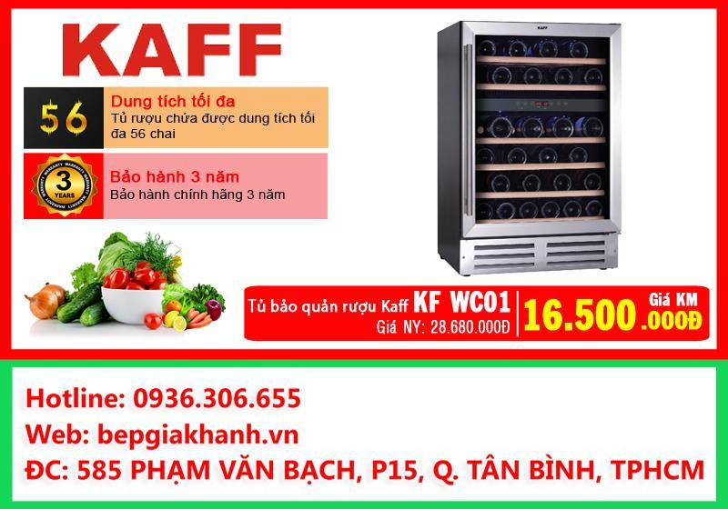 Tủ đựng rượu bảo quản lạnh Kaff KF WC01