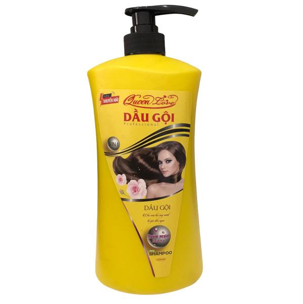 Dầu gội 5 in 1 Queen Love Giúp tóc suông mượt óng ả Chai 1000ml - Date 2.2023 nhập khẩu