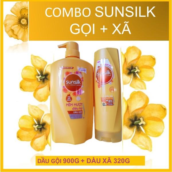 [HCM]COMBO Sunsilk Mềm mượt diệu kỳ (Vàng) Gội 650g và Xả 320g