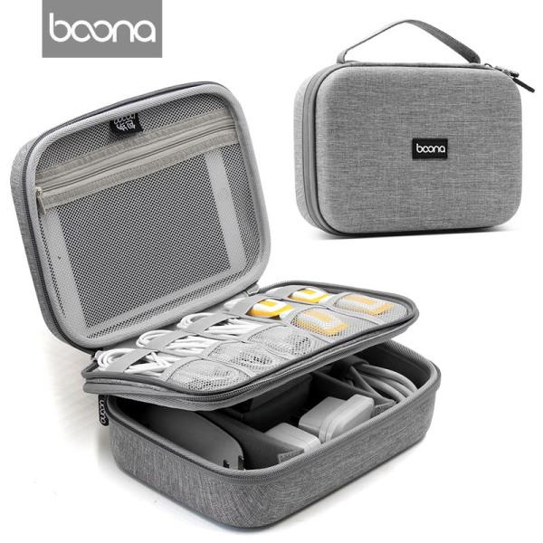 Túi đựng phụ kiện công nghệ BAONA phom cứng cáp chống sốc cực tốt
