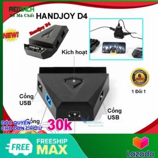 Bộ chuyển đổi Handjoy D4 - Dock chuyển đổi chơi game PUBG, ROS, FreeFire bằng Chuột và Phím ( gamesir x1, flydigi q1, gamesir z1 ) - kết nối không có độ trễ, BH 12 tháng thumbnail