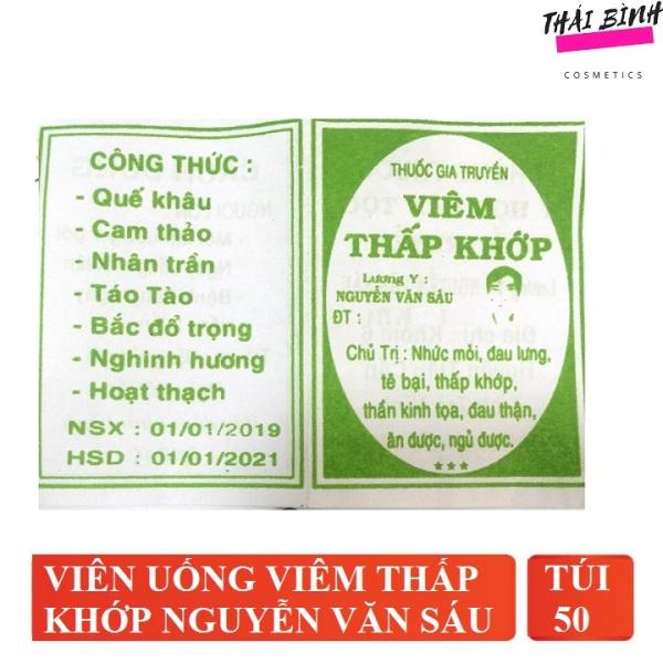 Thấp Khớp Nguyễn Văn Sáu ( Gói 20-30-50) nhập khẩu