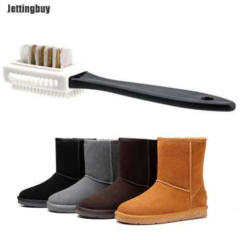 Chic 3-Sides Cleaning Brush For Suede Nubuck Shoes Boot Cleaner - intl