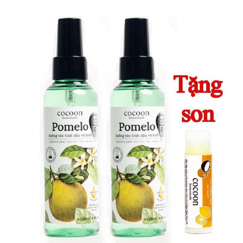 Combo 2 Dưỡng tóc tinh dầu bưởi Pomelo Cocoon 130ml tặng 1 son môi Lipcare giá rẻ