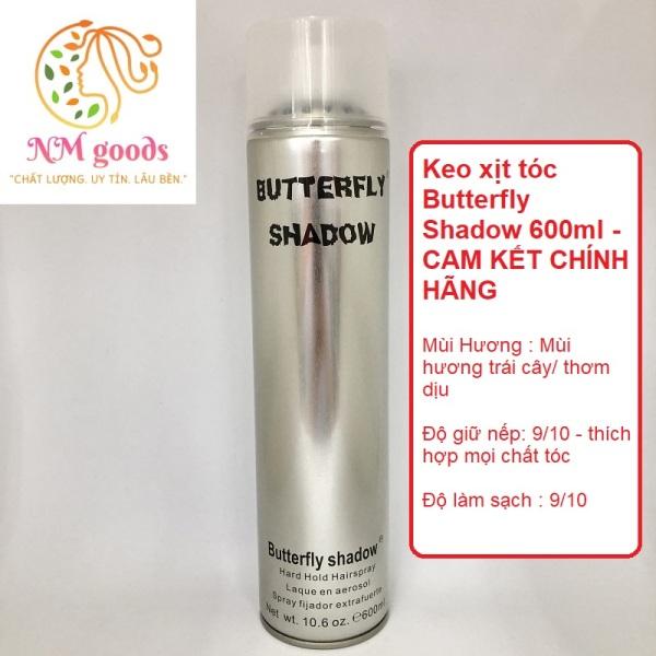 Keo xịt tóc Butterfly Shadow 600ml giá rẻ
