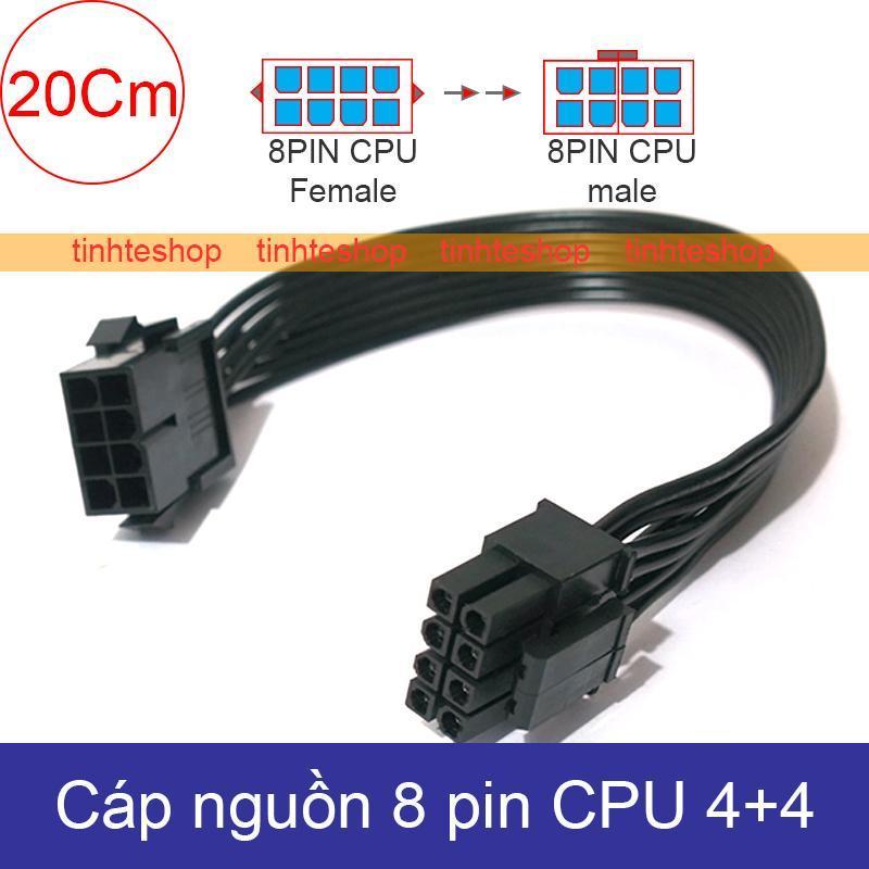 Bảng giá Cáp nối dài nguồn 8pin cho CPU 4+4 - Dây nguồn 8pin CPU 1 đầu đực 1 đầu cái - Cáp nguồn 8pin CPU 20Cm Brawis Phong Vũ
