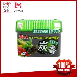 Hộp khử mùi ngăn rau củ tủ lạnh KOKUBO làm từ lá trà xanh 150g - Nội địa Nhật Bản