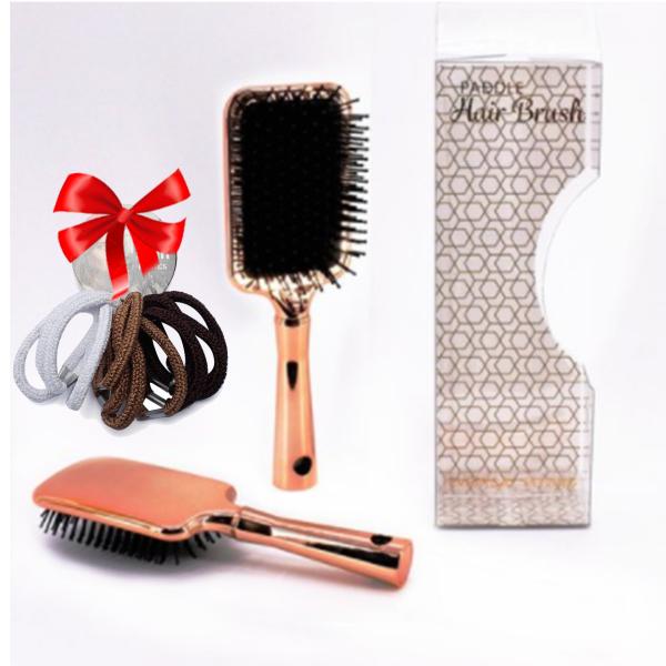 Lược massage chải tóc mái chèo UBL AH3664 size 25.2 x 8.3 cm (Vàng hồng)