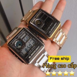 Đồng hồ Casio G-Shock Nam AE 1200-WH classic chống nước - Dây thép không gỉ - Đồng hồ P&T [ FreeShip- Hàng cao cấp- Full box ] thumbnail