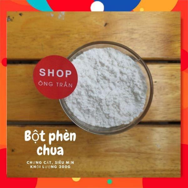 (200G) Bột phèn chua chưng cất, siêu mịn khử mùi hôi nách hôi chân SHOP ÔNG TRẦN