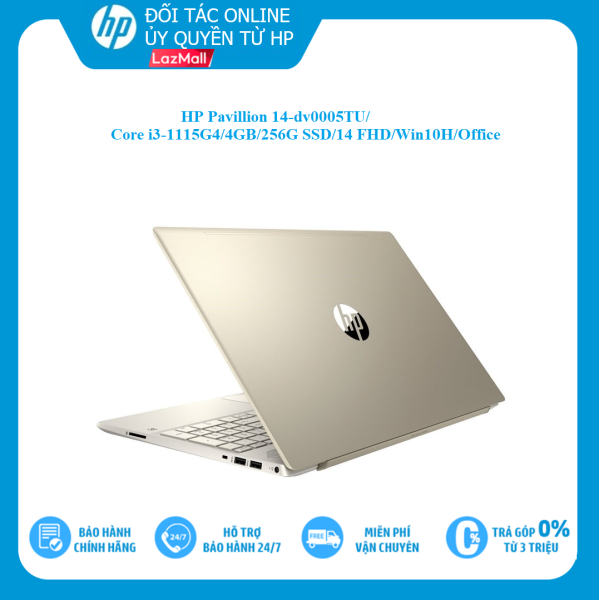 Bảng giá [VOUCHER 1.5 TRIỆU - 6/6 - 10/6] Laptop HP Pavilion 14-dv0005TU/i3-1115G4/ 4Gb/ 256GB SSD/ 14FHD/ VGA ON/ Win10+Office/ Gold/2D7A1PA Phong Vũ