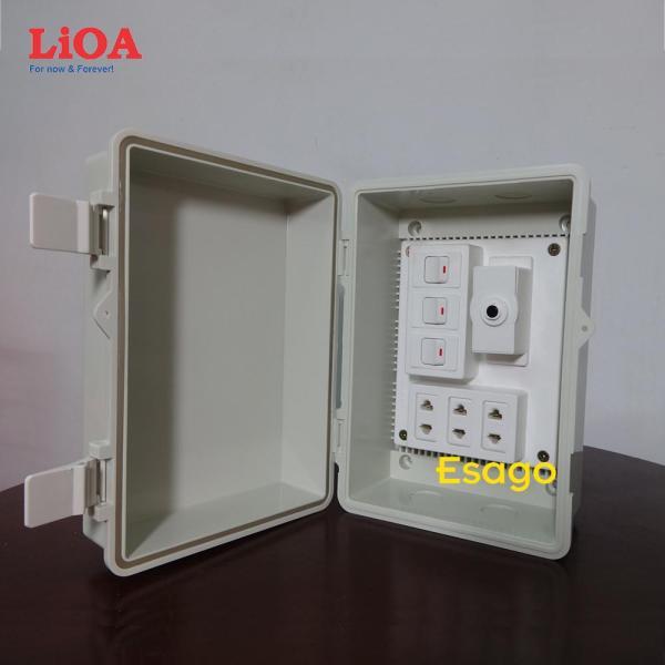 Combo tủ điện trong nhà và ngoài trời LiOA - Loại có 3 công tắc - LVJLCB3C
