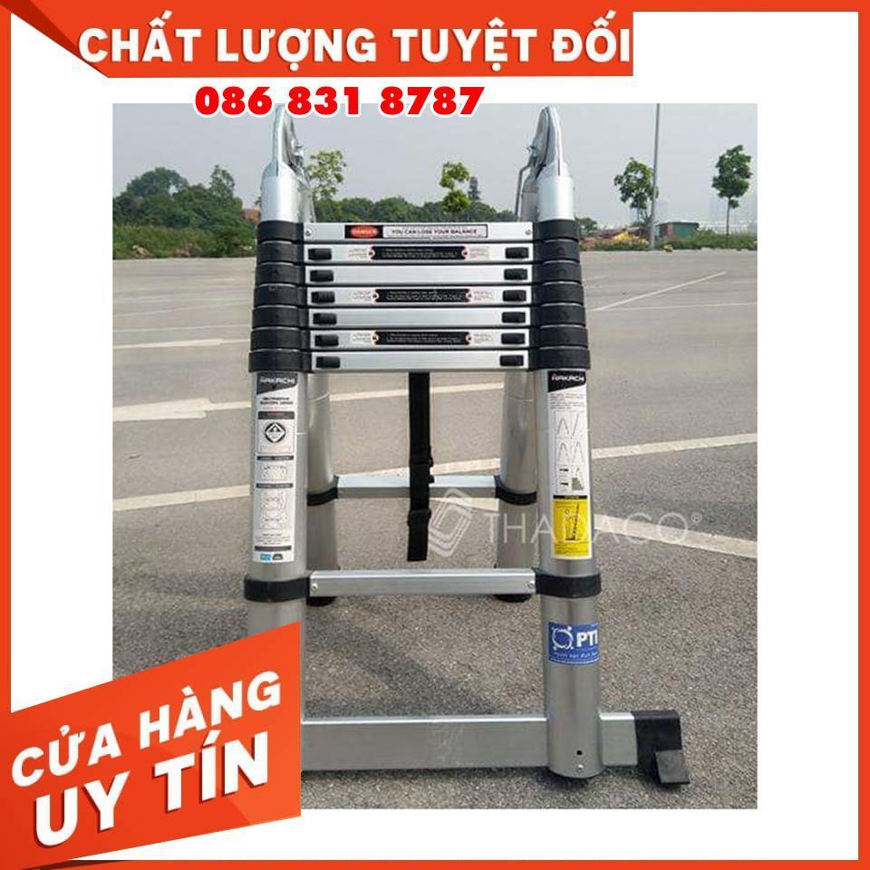 Thang Nhôm HAKACHI Chữ A 2M5 + 2M5 - BH 24 Tháng