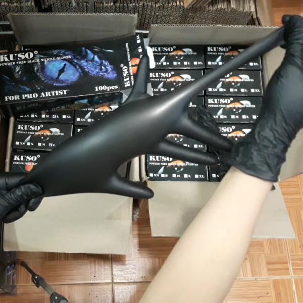 Găng tay đen chuyên dùng KUSO hộp 100 cái