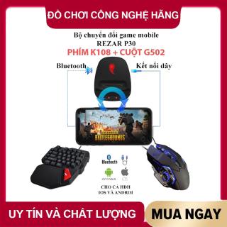 [ COMBO ]Bộ chuyển đổi game REZAR P30 + PHÍM K108 cho điện thoại chơi game PUBG, kết nối 4 chế độ có dây và không dây - BẢO HÀNH 6 THÁNG thumbnail