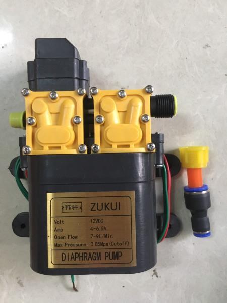 Máy bơm đôi ZUKUI tăng áp lực nước mini 12V 120W Lưu lượng 9L/phút Tự động hút và ngắt nước