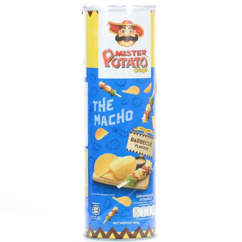 Snack khoai tây chiên Mister Potato vị BBQ hộp 100g