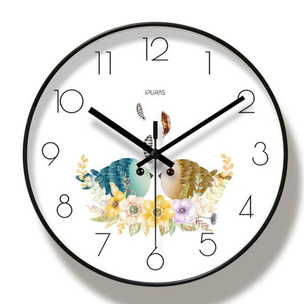 Đồng hồ treo tường ĐÔI CHIM UYÊN ƯƠNG - kim trôi - loại đẹp bán chạy
