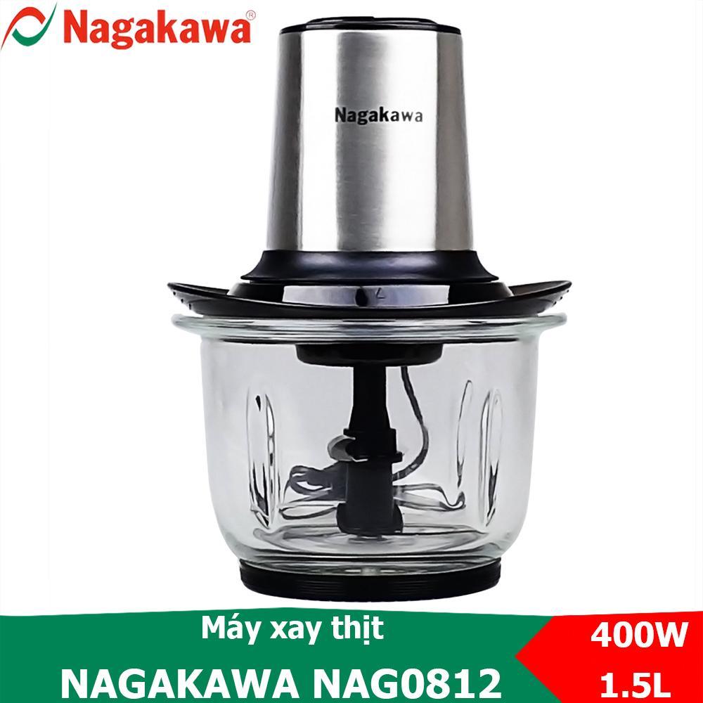Máy Xay Thịt 400W, Cối Thủy Tinh 1.5L Nagakawa NAG0812 Giá Tốt Duy Nhất tại Lazada