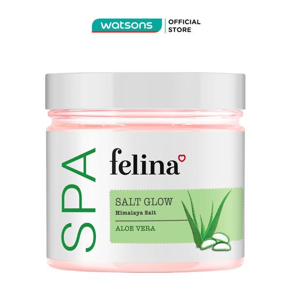Muối Tắm Felina Salt Aloe Vera Tẩy Tế Bào Da Chiết Xuất Lô Hội 500g