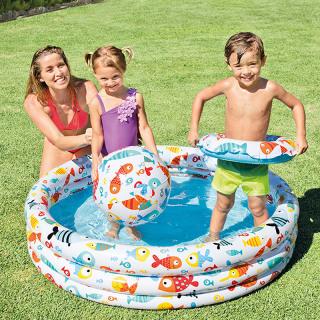 Bể Bơi Phao 3 Chi TIết Kèm Bóng Và Phao Bơi Cho Bé - Bể phao cầu vòng kèm bóng và phao - đồ dùng sinh hoạt cho bé - đồ chơi vận động cho bé - hồ phao cao cấp - đồ chơi cho bé ngày hè - hồ chứa nước - đồ dùng sân vườn - phát triển trí tuệ 6