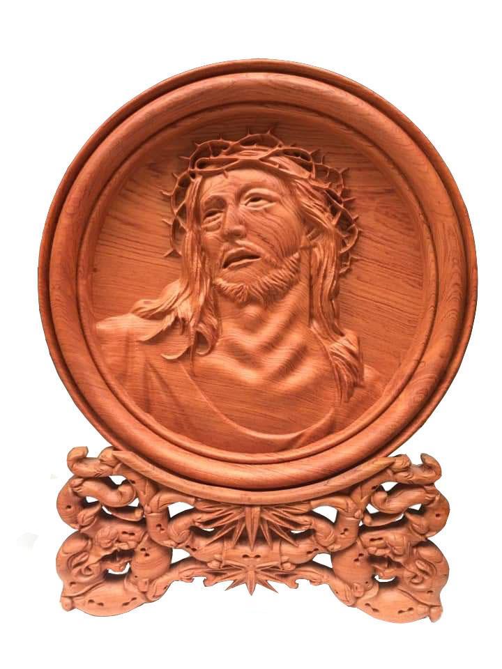 Mua Đĩa gỗ Hương Đá - Chúa Giê Su
