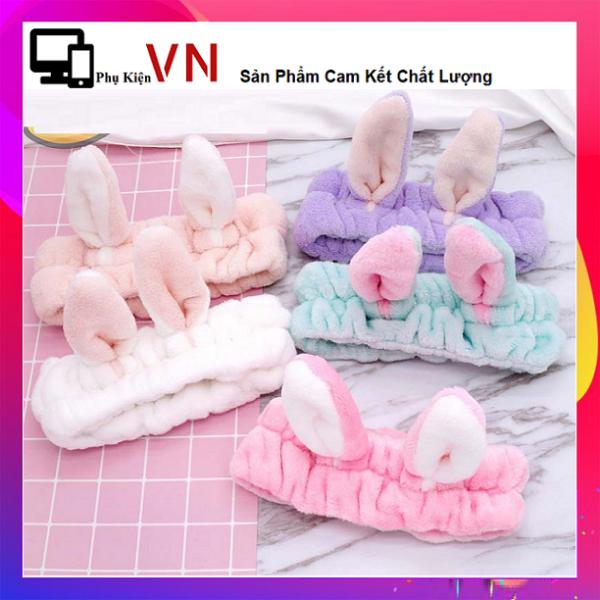 ⚡ PKVN -  Băng Đô Turban Tai Thỏ 3D Siêu Cưng - Băng Đô Tai Thỏ 3D Vải Nhung - Dày Chắc Chắn Mềm Mịn - Siêu Bền  ⚡