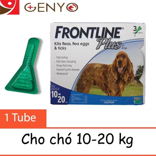 Trị Ve Ghẻ, Demodex, Bọ Chét Nhỏ Sống Lưng – Merial Frontline 10-20kg (LẺ 1 TUÝP )