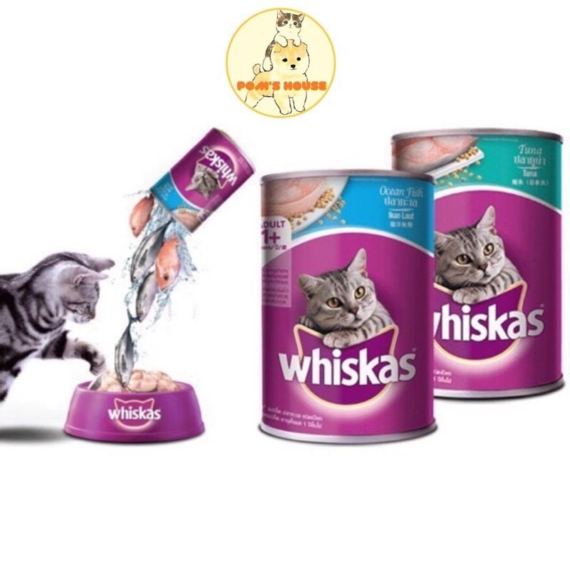 Pate Whiskas Vị Cá Biển Cho Mèo Lon 400g- Poms House