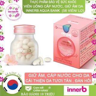 Thực phẩm bảo vệ sức khỏe viên uống cấp nước InnerB Aqua Bank giữ ẩm cho da, 56 viên lọ 16.8g thumbnail