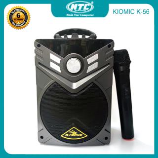 [HCM]Loa karaoke xách tay 20W KIOMIC K-56 hỗ trợ thẻ nhớ USB AUX FM jack 6.5mm - kèm micro không dây (Màu Random) - Nhất Tín Computer thumbnail