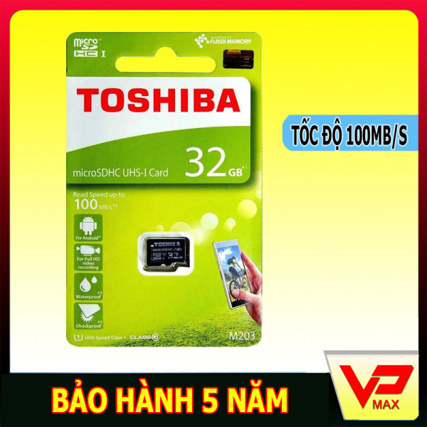 Thẻ nhớ 32GB class 10 Toshiba tốc độ cao 100MB/s dùng cho điện thoại, camera