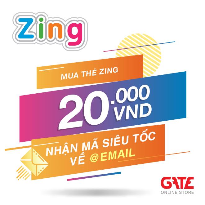 [HCM]Thẻ Zing 20.000 - nhận mã SIÊU TỐC về ngay EMAIL