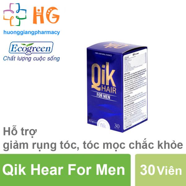 QIK HAIR FOR MEN - Cải thiện tình trạng rụng tóc cho cả nam và nữ, Ngăn ngừa tình trạng rụng tóc, hói đầu (Lọ 30 viên)