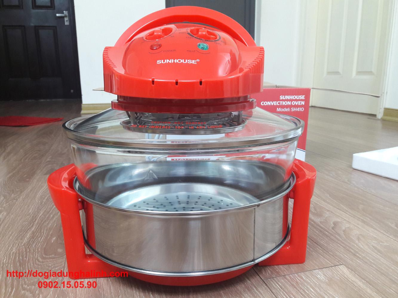 Lò nướng thủy tinh Sunhouse SH410 - Bếp nướng điện  Sunhouse - Hàng chính hãng bảo hành 12 tháng